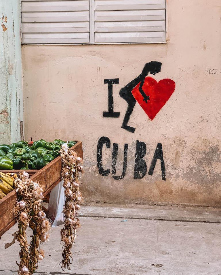 Havanna Streetart I love Cuba