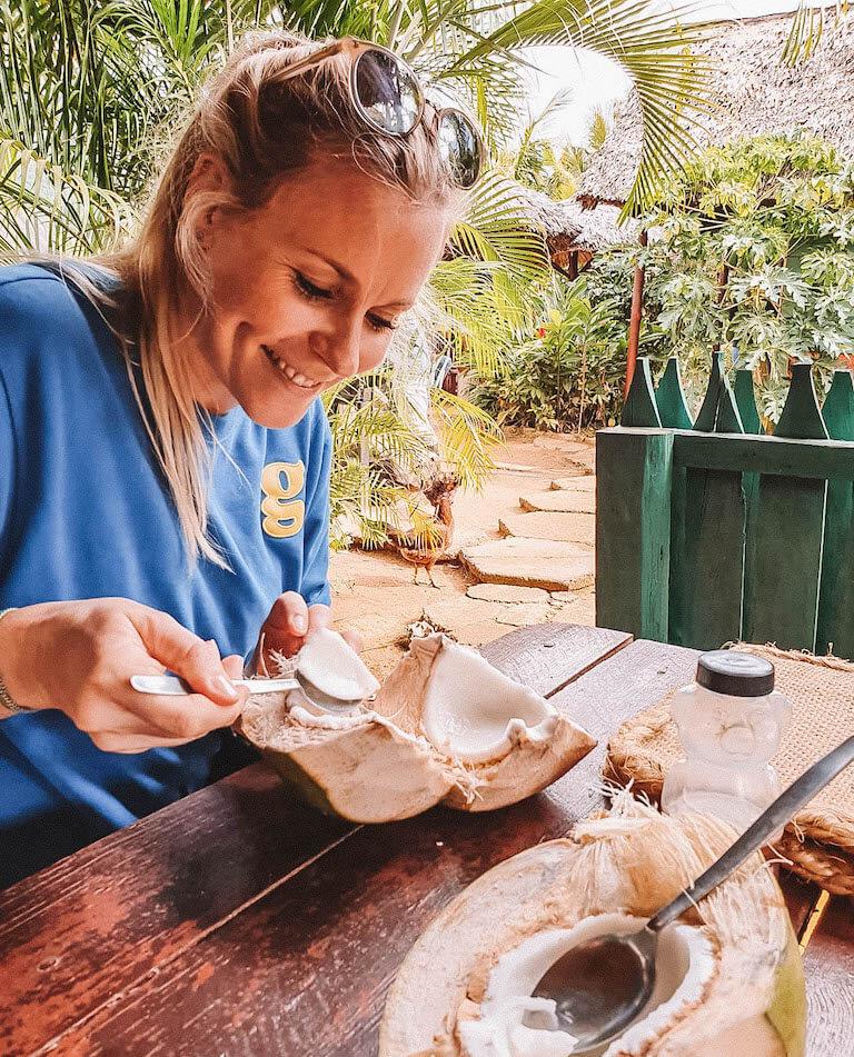 Kokosnuss Liebe Kuba