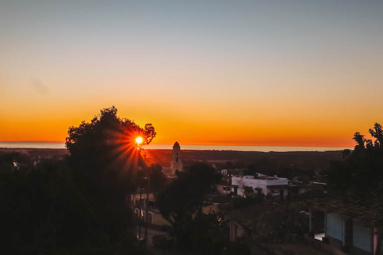 Sonnenuntergang Trinidad Kuba