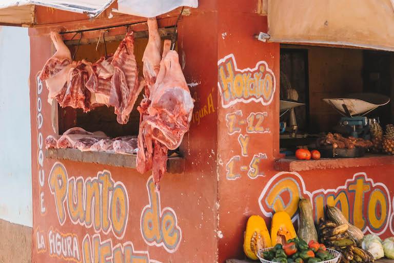 Trinidad Kuba Fleischverkauf
