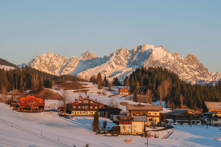 Kitzbuehler Alpen Fieberbrunn Sonnenaufgang
