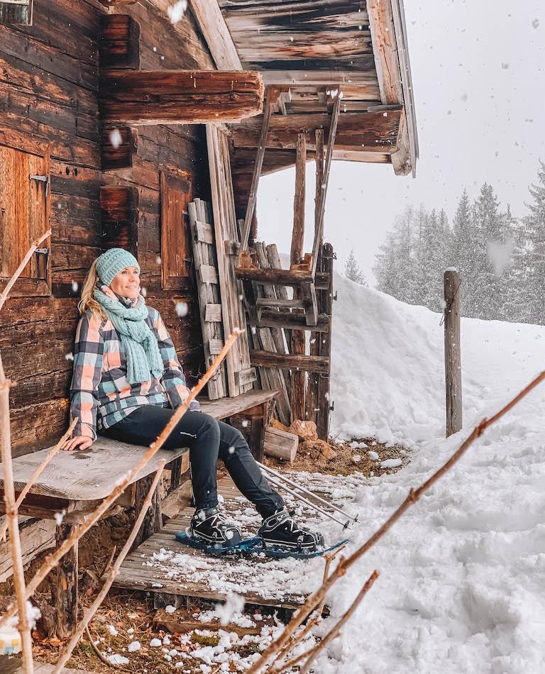 Kitzbuehler Alpen Schneeschuhwanderung Huette