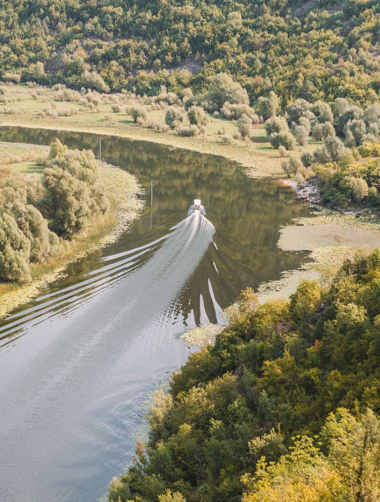 Skadarsko Jezero Flussschleife