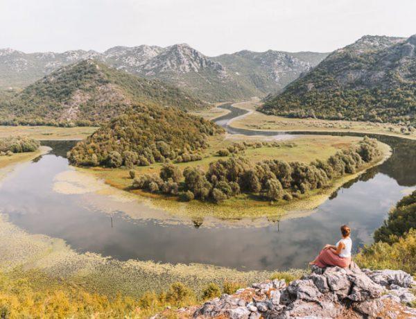 Skutarisee Montenegro Flussschlinge