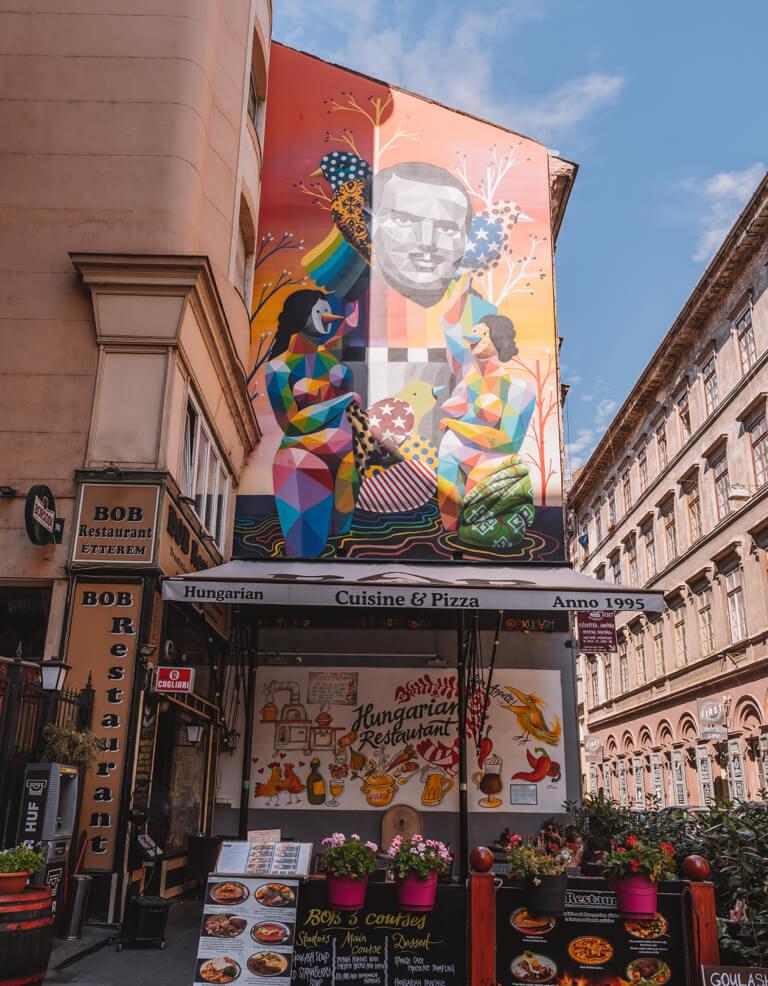 Streetart Budapest Juedisches Viertel Siebter Bezirk