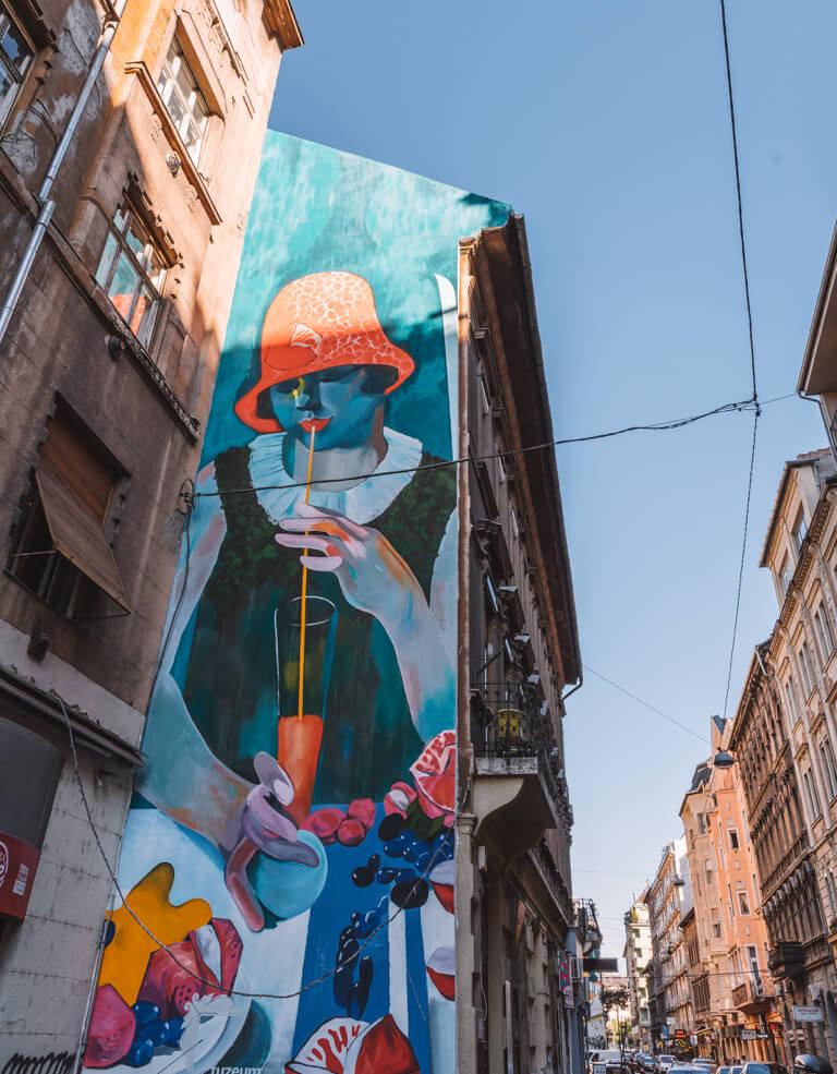 Streetart Budapest Juedisches Viertel