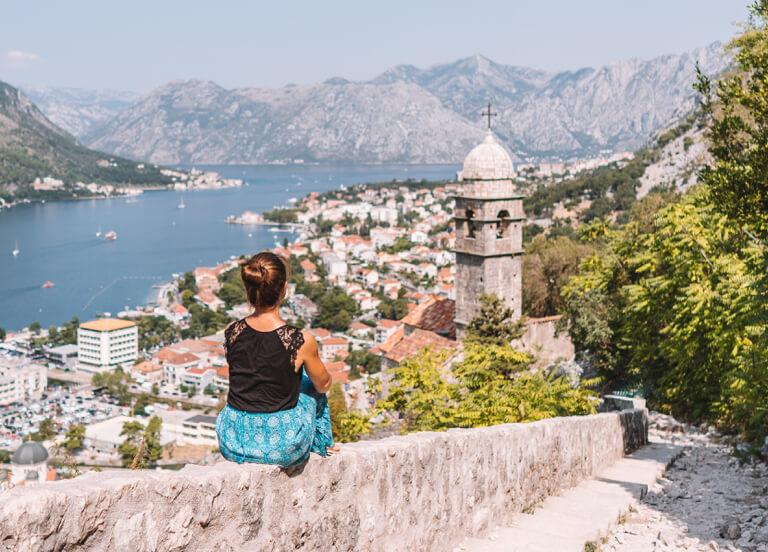 Bucht von Kotor Gospa od Zdravlja Kirche
