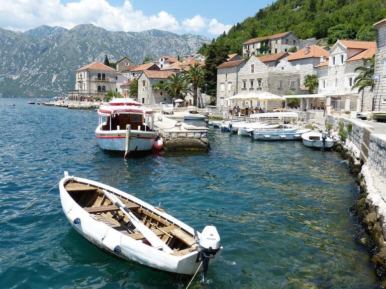 Bucht von Kotor Perast Ufer