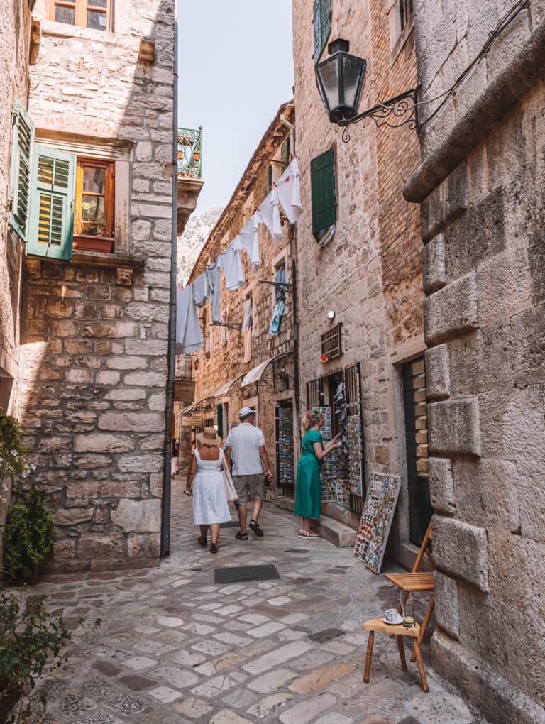 Gassen in Kotor