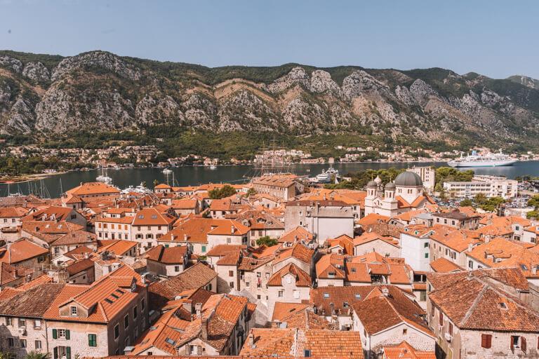 Kotor Altstadt Panorama