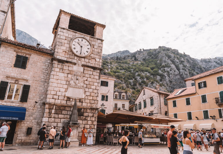 Kotor Altstadt Uhrturm Renaissance