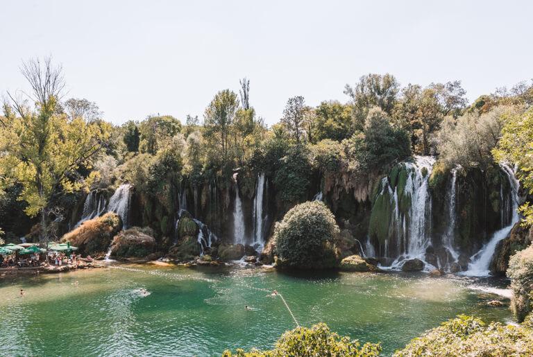 Kravica Wasserfaelle bei Mostar
