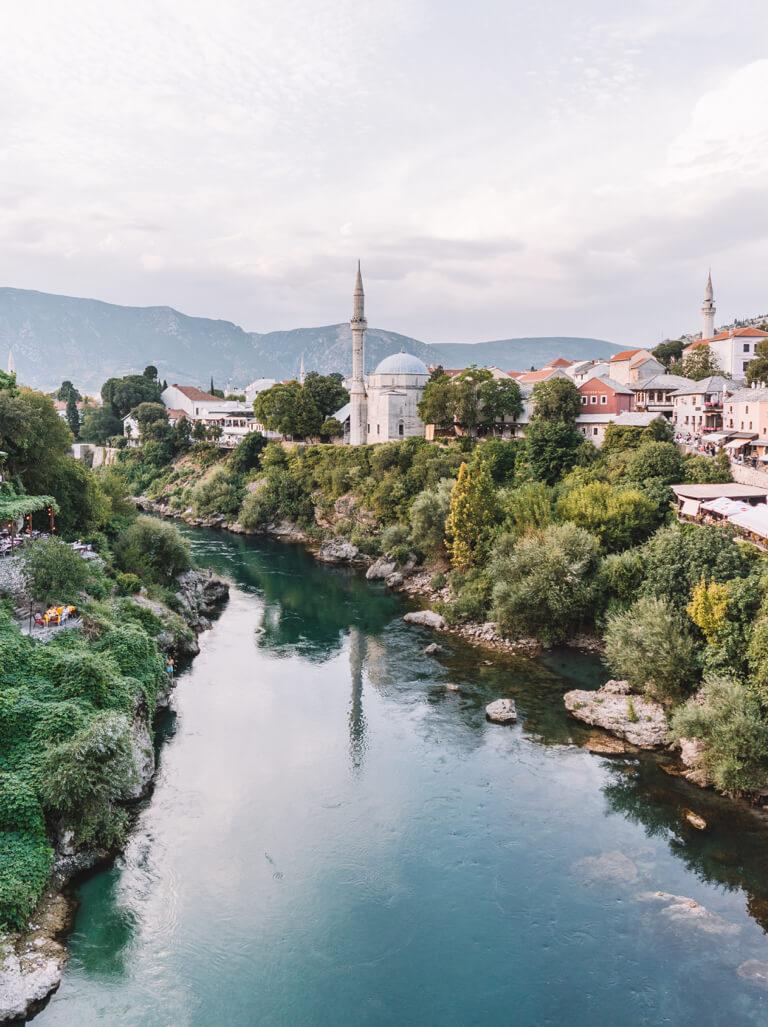 Mostar Bosnien Neretva Fluss