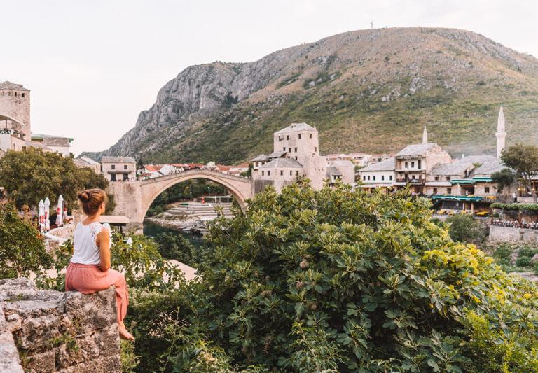 Mostar Bosnien Stari most Alte Bruecke