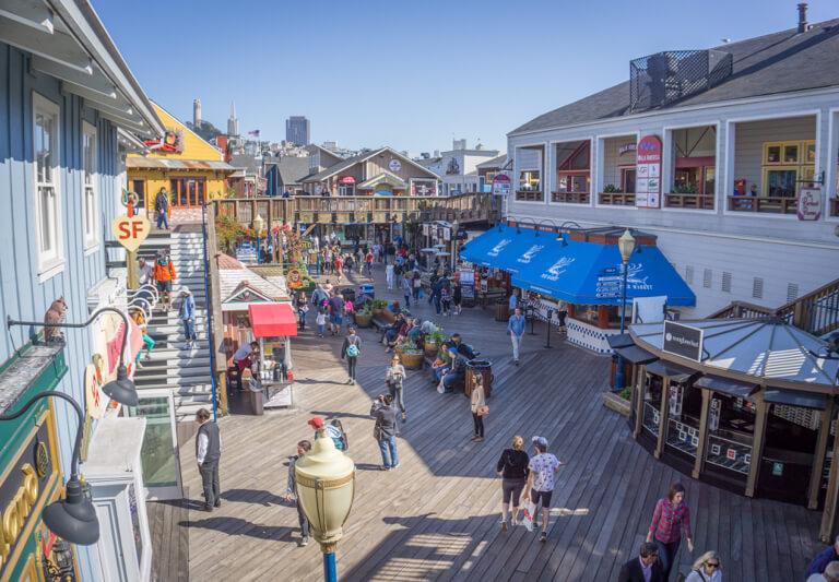 San Francisco Sehenswuerdigkeiten Fishermans Wharf Pier 39