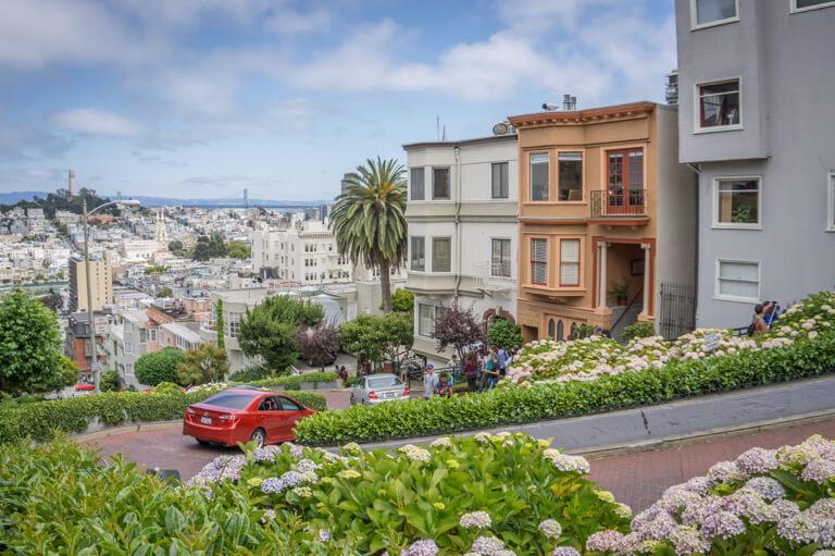 San Francisco Sehenswuerdigkeiten Lombard Street