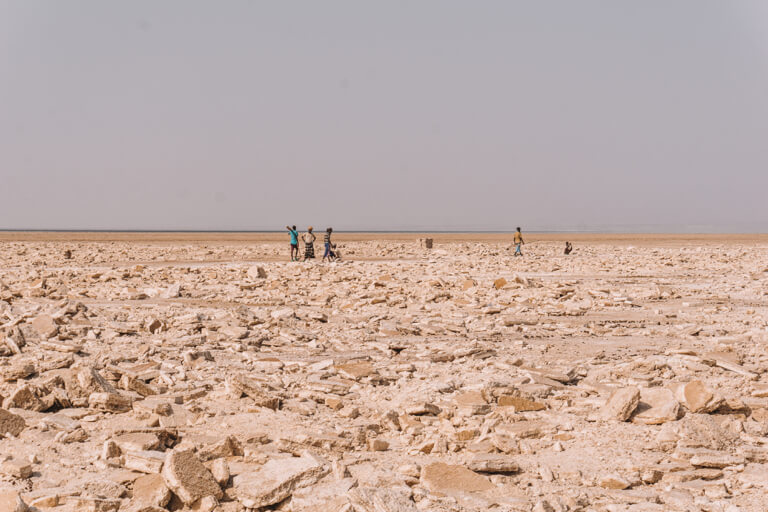 Afar Dreieck Salz Abbau Danakil Wueste