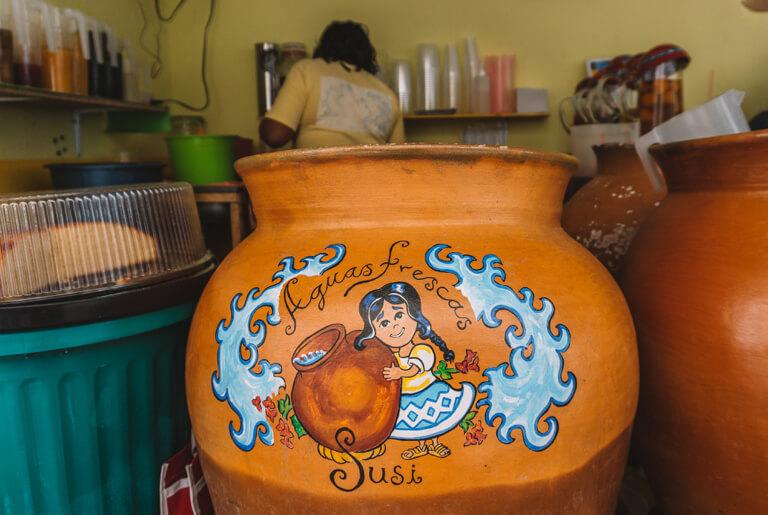 Aguas Frescas Mexiko Markt