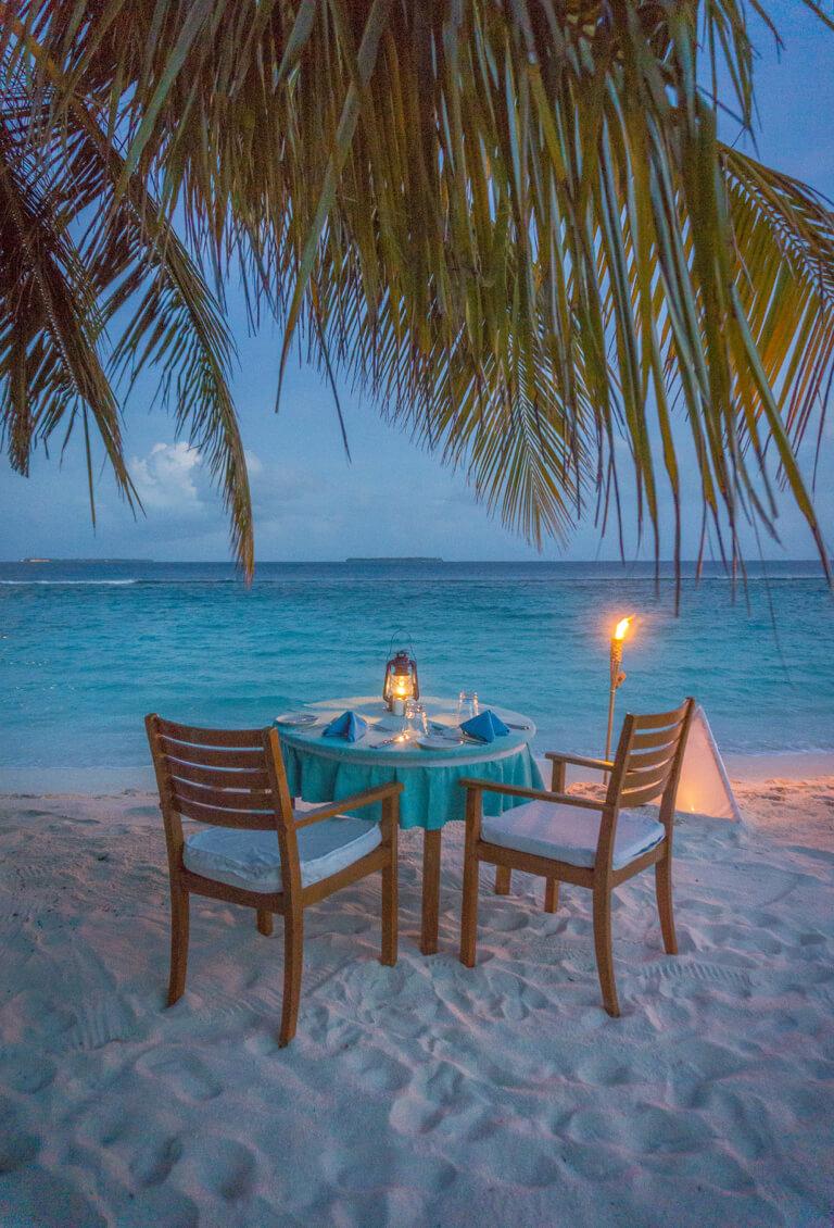 Coco Palm Dhuni Kolhu Malediven Inseln Dinner