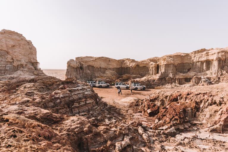Dallol Vulkan Danakil Wueste Salz Canyon Aethiopien