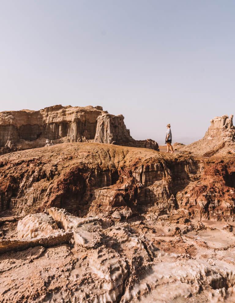 Dallol Vulkan Danakil Wueste Salz Canyon