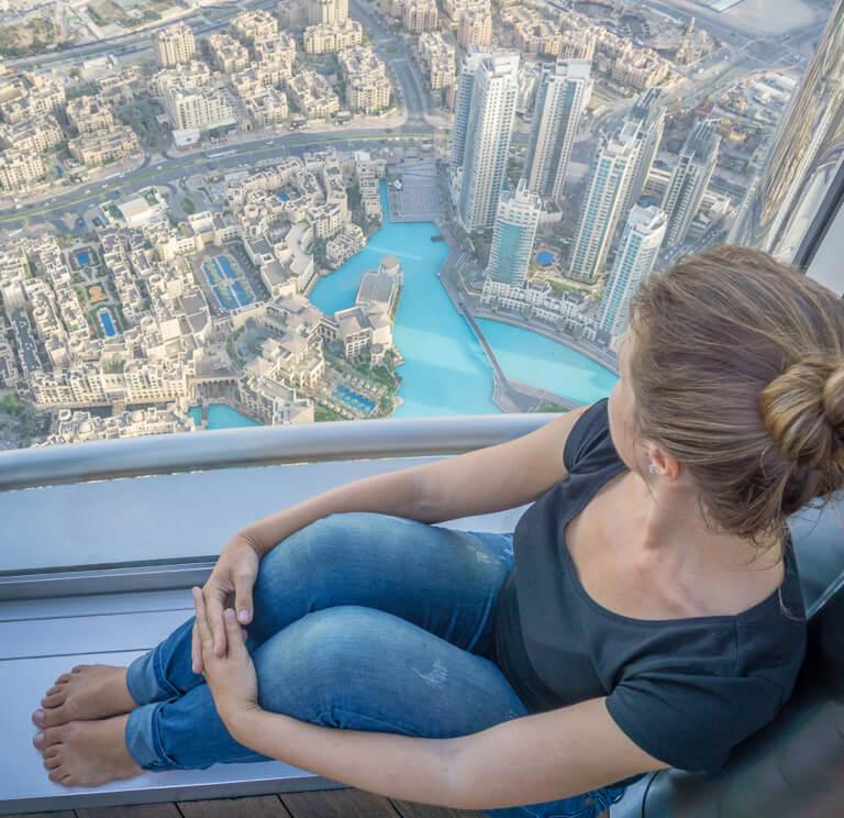 Dubai Burj Khalifa Ausblick At The Top
