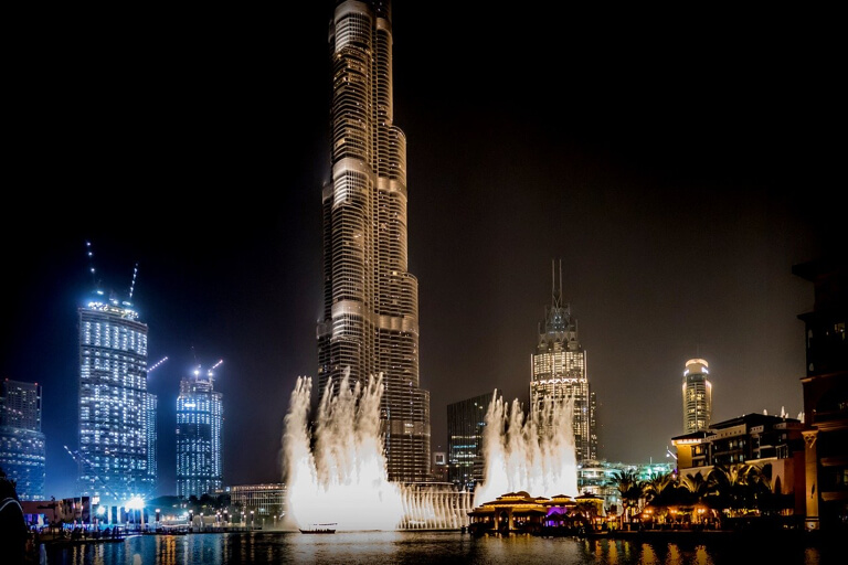 Dubai Fountain Wasserspiele