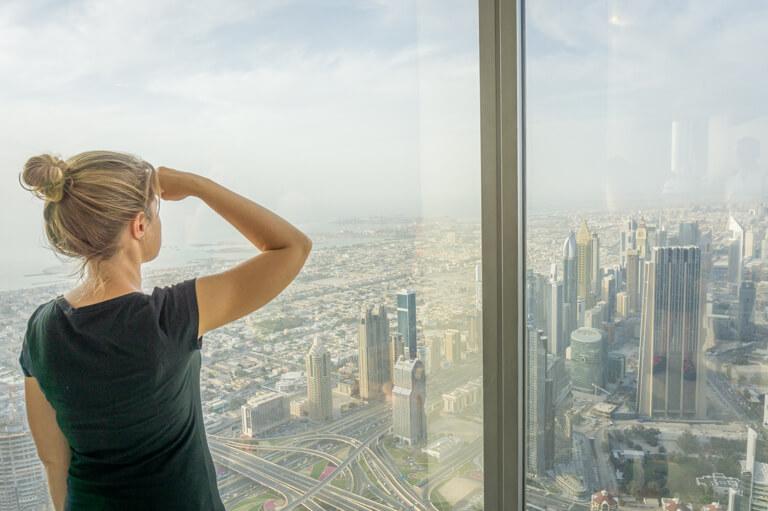 Dubai Highlights Burj Khalifa Aussicht At The Top