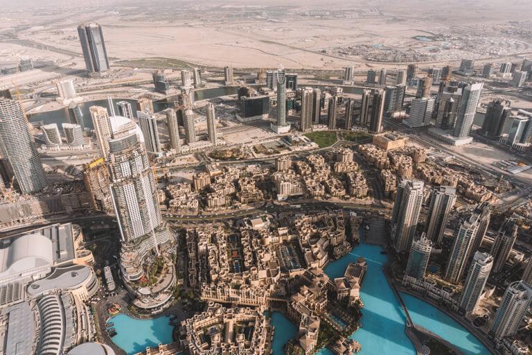 Dubai Highlights Burj Khalifa Aussicht