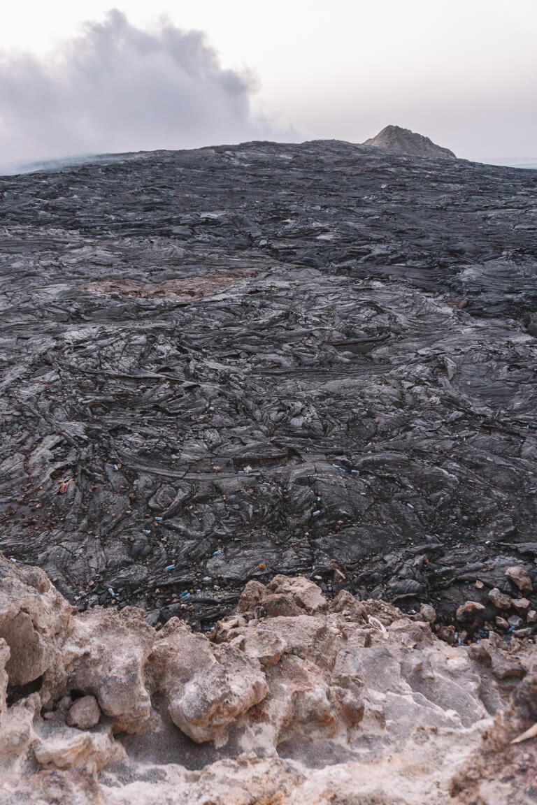 Erta Ale Vulkan Aethiopien Danakil Senke Lavafeld