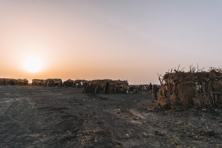 Erta Ale Vulkan Aethiopien Danakil Wueste Camp