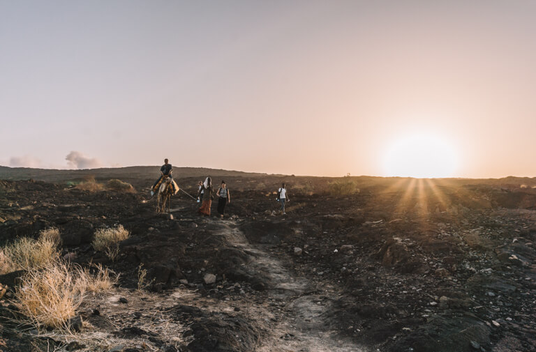 Erta Ale Vulkan Aethiopien Danakil Wueste