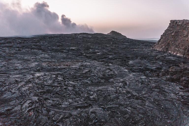 Erta Ale Vulkan Aethiopien Lavafeld