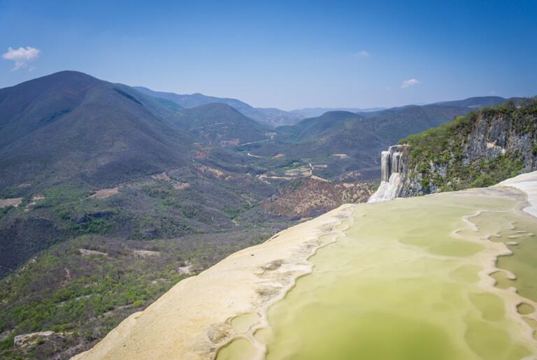 Hierve el Agua versteinerter Wasserfall