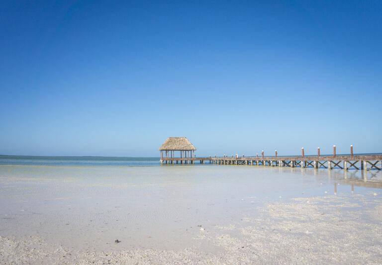 Isla Holbox Mexiko Punta Cocos Steg