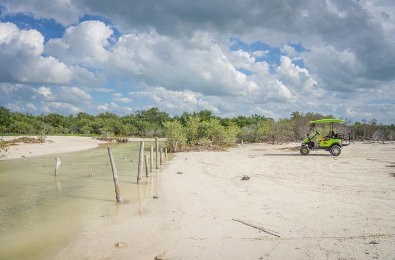 Isla Holbox Mexiko Punta Mosquito Golfcart