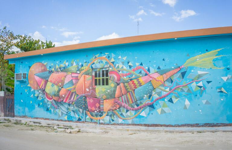 Isla Holbox Mexiko Streetart Walhai