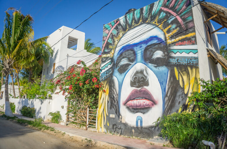 Isla Holbox Mexiko Streetart