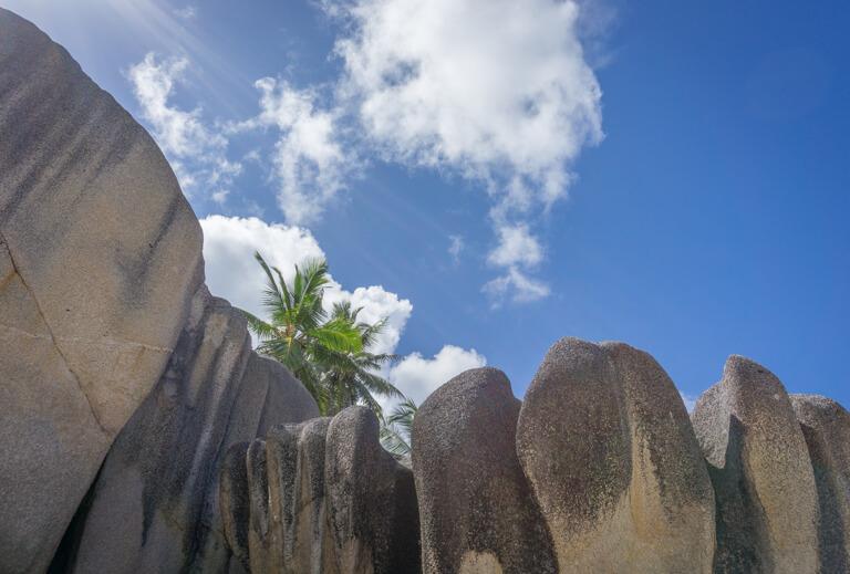 La Digue Seychellen Anse Source d Argent Granitfelsen