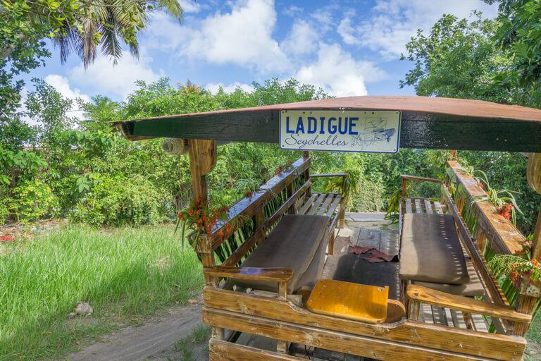 La Digue Seychellen Ochsenkarren