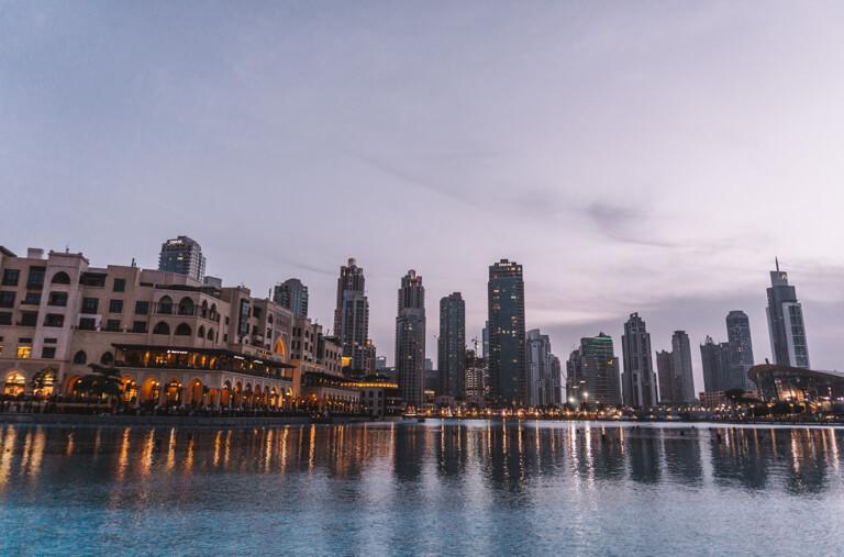 Lake Khalifa Wasserspiele von Dubai