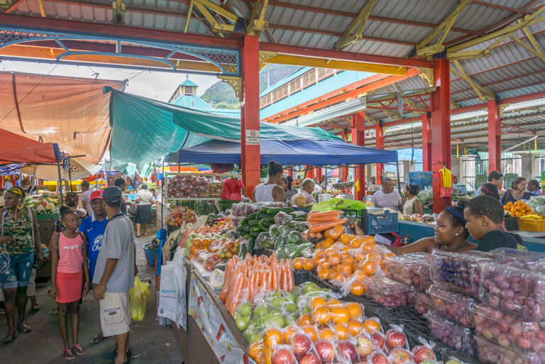 Mahe Seychellen Markt