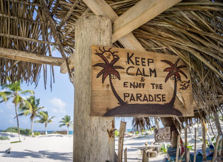 Mexiko Strand Punta Allen Sian Kaan Nationalpark Paradise Beach