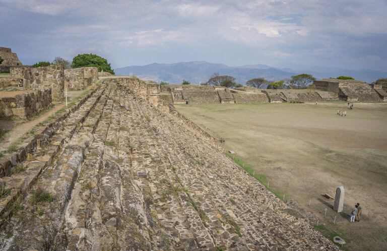 Oaxaca Mexiko Monte Alban Weisser Berg
