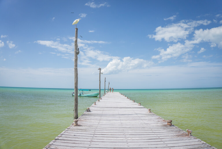 Playa Holbox Mexiko Steg