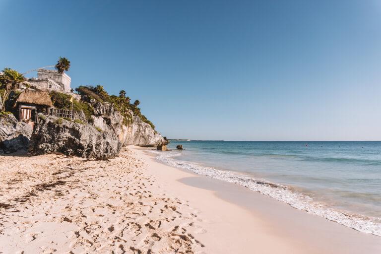 Playa Ruinas Maya Staette Tulum Mexiko Ruinen