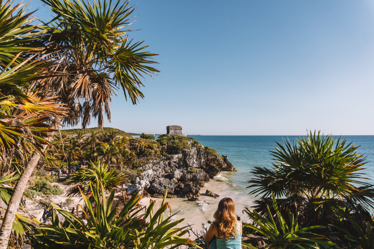 Playa Ruinas Maya Staette Tulum Mexiko