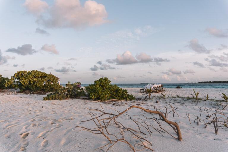 Reethi Beach Resort Moonlight Dinner Malediven Inseln