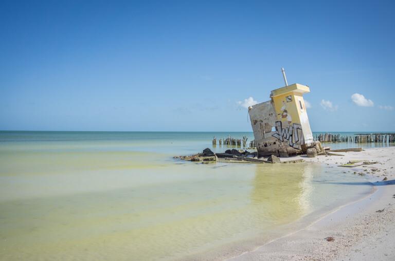 Ruine am Strand