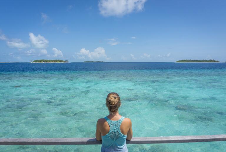 Schoenste Insel Malediven Indischer Ozean